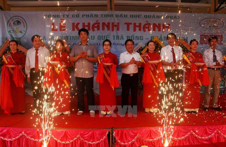 Khánh thành nhà máy sản xuất tinh dầu Quế Trà Bồng