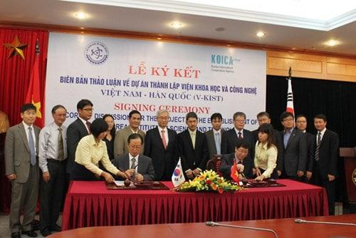 Thành lập Viện Khoa học và Công nghệ Việt Nam- Hàn Quốc